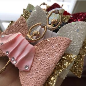 Sparkly Ballerina Hair Bow Clip
